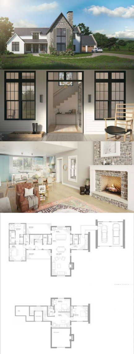 48 Ideas House Modern Nature Floor Plans Farmhouse Style House House Plans Farmhouse House Designs Exterior