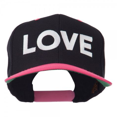 Calligraphy Love Embroidered Snapback Cap
