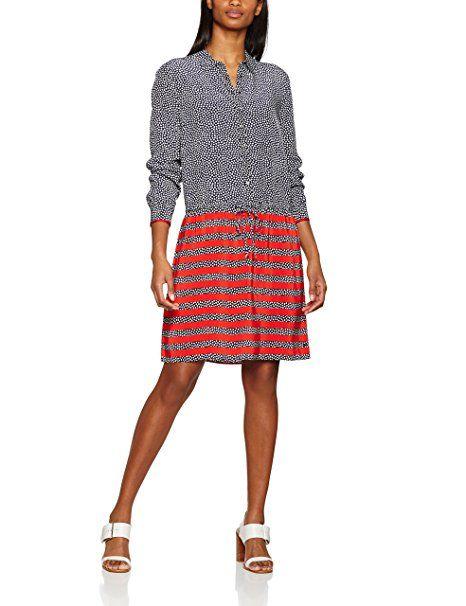 b500b4267a4a79 Tommy Hilfiger Damen Kleid Avril Dress LS, Blau (Lottie Mini Floral ...