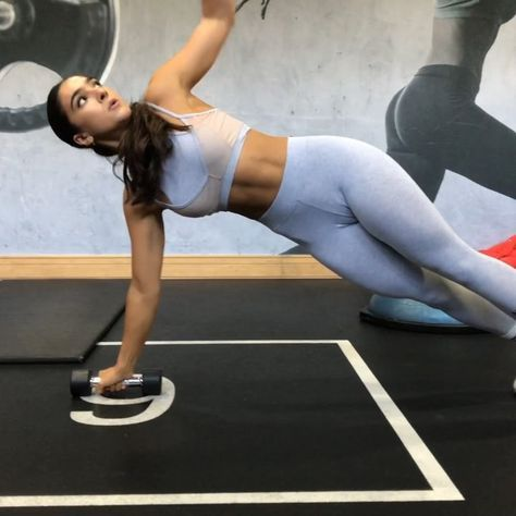 Stefanie Williams On Instagram Dumbbell Only Core Workout Trust Me It S More Challenging Than It Looks Espec Core Workout Workout Abs Workout Gym