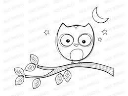 Image Result For Owl Clipart Black And White Digital Stamps Sharpie Projects Owl Clip Art