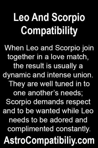 Scorpio og leo dating