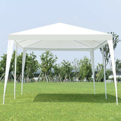 Topcraft 20 Ft W X 8 5 Ft D Steel Patio Gazebo Steel Soft Top Metal In White Size 120 H X 240 W X 102 D Wayfair In 2021 Wedding Canopy Event Tent Party Tent