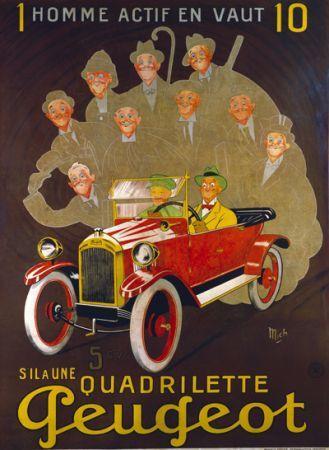 Affiches anciennes velos_ voitures
