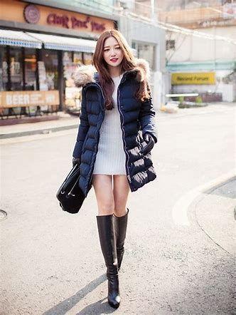 ロングブーツ 女子アナ に対する画像結果 ロングブーツ 着こなしいろいろ ダウンジャケット