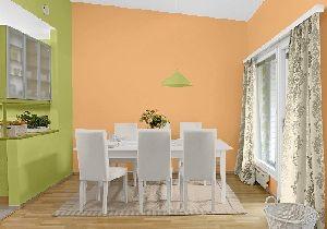 Esszimmer farbgestaltung  Esszimmer Farbgestaltung, die Wandfarbe in Papaya/Farn/Sand ...
