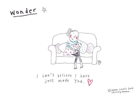 I am an illustrator from Cornwall and a mum of one. I decided to document my pregnancy through quirky illustrations and the bonkers first year of parenting in an honest and heartfelt way.   The pictures seem to have really connected with people and as babyhood turns into toddlerhood the material keeps on coming!