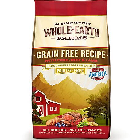 Whole Earth Farms Grain Free Pork Beef And Lamb Recipe Dry Dog
