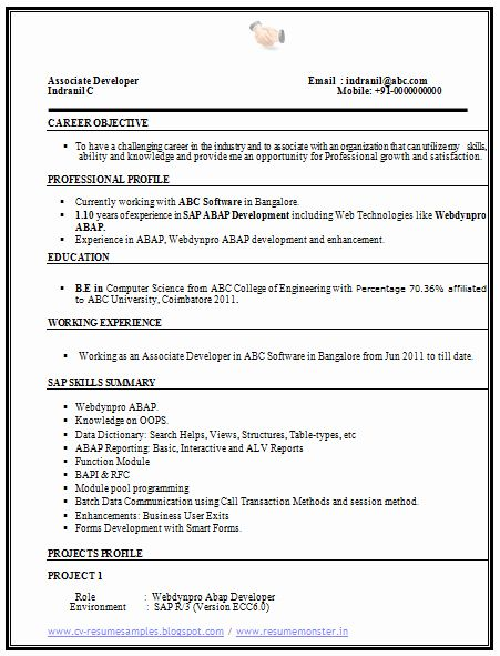 Computer Science Resume Example Best Of Over Cv And Resume Samples With Free Download Puter Science Resume Sample Cv Resume Sample Resume Examples Resume