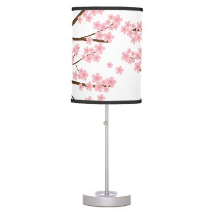 Cherry Blossoms Tree Sakura Simple Elegant Pink Table Lamp Zazzle Com In 2020 Pink Table Lamp Pink Table Blossom Trees