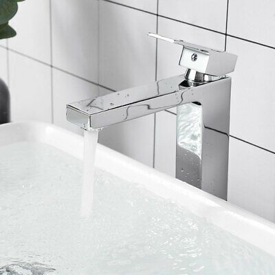 Advertisement Modern Bathroom Faucet Tall Cold Hot Water F Above Counter Vessel Sink Chrome In 2020 Modern Bathroom Faucets Sink Faucets Bathroom Sink Faucets