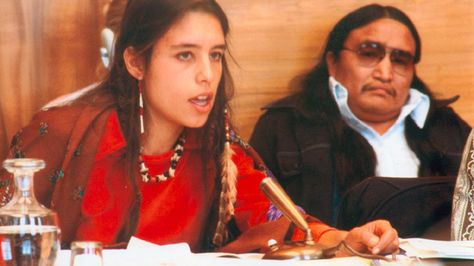 """Someone explain to me why wanting clean drinking water makes you an activist, and why proposing to destroy water with chemical warfare doesn't make you a terrorist"" Winona LaDuke, Anishinaabe activist, environmentalist, economist, writer, Harvard grad (degrees in rural economic development), UN Geneva speaker at 17, Indigenous Women's Network co-founder ('85), Honor the Earth founder ('89), Vice Presidential running mate to Ralph Nader ('96, 2000), subject of the film Thunderbird Woman ('03)"