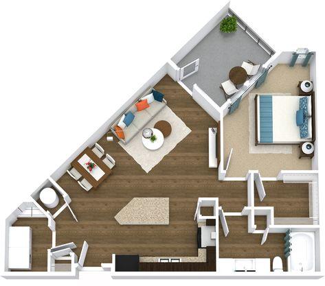 Luxury 1 2 Bedroom Apartments Townhomes In Richardson Tx Arquitetura Casas