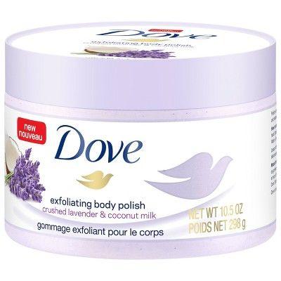 Dove Crushed Lavender Coconut Milk Exfoliating Body Polish Scrub 10 5oz Body Polish Dove Body Wash Body Exfoliator
