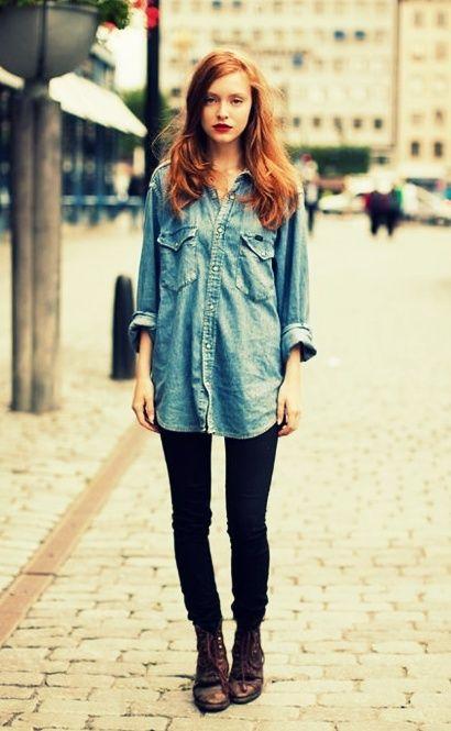Koszula Jeansowa Stockholm Fashion Fashion Style
