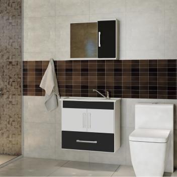 Gabinete Para Banheiro Com Cuba E Espelheira Atenas Mgm Moveis