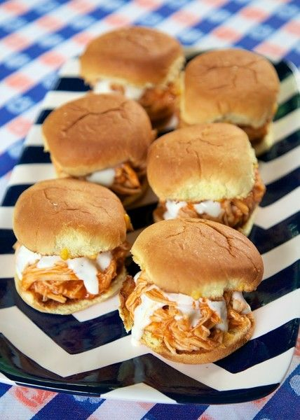 Buffalo Chicken Sliders - Classic Super Bowl Party Food - Photos