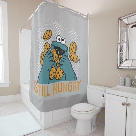 Sesame Street Cookie Monster Still Hungry Shower Curtain