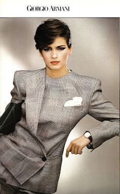 Armani Suit, still feminene and powerfully stylish today