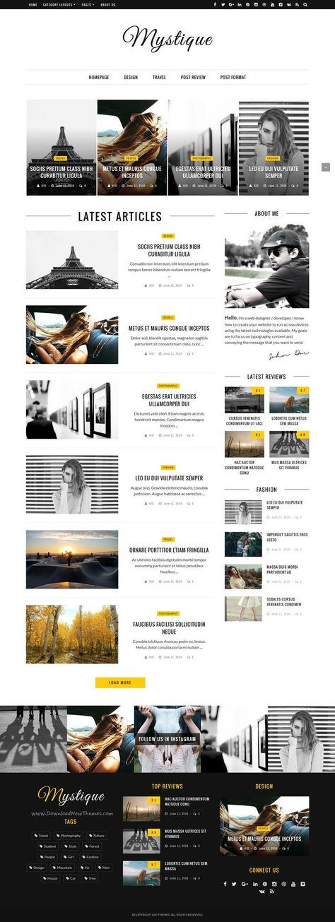 Mystique: Fast - Clean - Flexible WordPress Magazine News Blog Theme