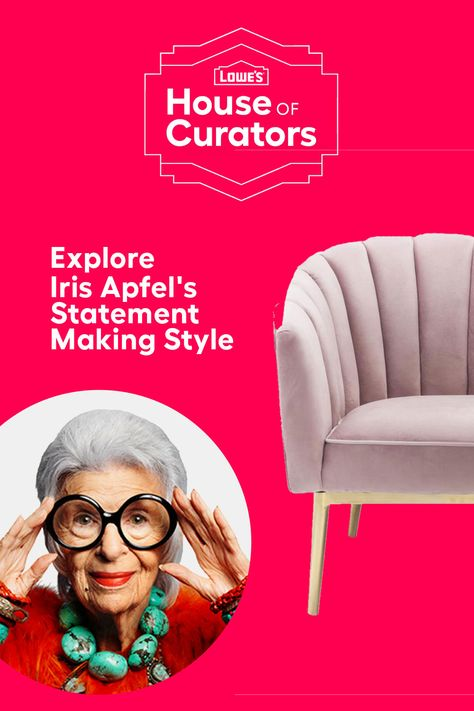Bring home lush colors, textures and patterns when you shop Iris Apfel's Statement Making Style curation for Lowe's House of Curators today!