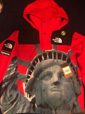 Supreme X The North Face Statue Of Liberty Mountain Jacket Red Large Fashion Clothing Shoes Accessories Men M In 2020 Red Jacket Mountain Jacket The North Face