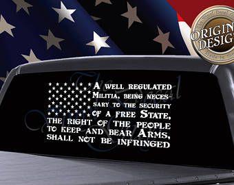 Car Truck Window Wall Decor PLEDGE OF ALLEGIANCE American Flag USA Army Decal