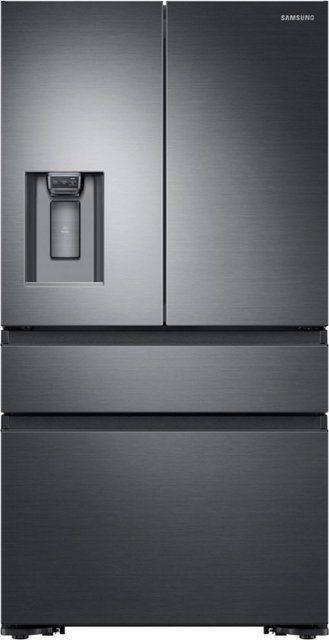Samsung 22 6 Cu Ft 4 Door Flex French Door Counter Depth Fingerprint Resistant Refrigerator Black Stainless Steel Rf23m8070sg French Doors Interior French Doors Counter Depth French Door Refrigerator