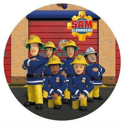 Tortenaufleger Geburtstag Tortenbild Zuckerbild Feuerwehrmann Sam 024
