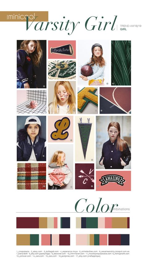 #trends #girls #girlsfashion #color #moodboard #AW18/19