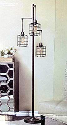 Stylecraft Piper Floor Lamp W 3 Edison Bulbs Amazon Com