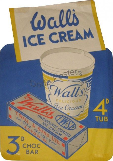 Wall S Ice Cream Lollies 5 Yummy Vintage Posters Walls Ice