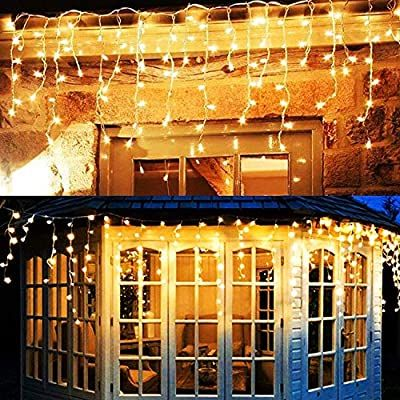 Amazon Com Twinkle Star 360 Led Icicle Christmas Lights Outdoor Dripping Icicle Lights 29 In 2020 Icicle Christmas Lights Led Icicle Christmas Lights Icicle Lights