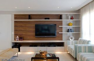 تصميمات مكتبة تليفزيون مودرن Living Room Theaters Home Living Room Tv Unit Designs