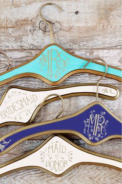 adorable wedding hangers  http://rstyle.me/n/e4s8bpdpe