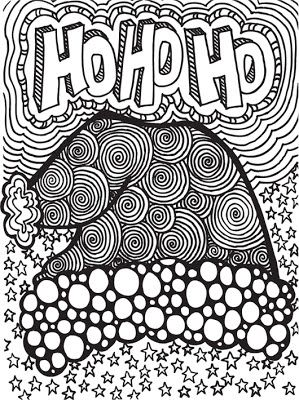 Abstract Doodles: Free Christmas Doodles to Color.  These are great!