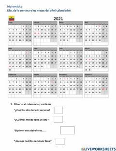 Dias De La Semana Y Meses Del Ano Idioma Espanol O Castellano Curso Nivel 2 Grado Asignatura Matematicas Tema Principal En 2021 Medidas De Cuadro De Texto Fichas