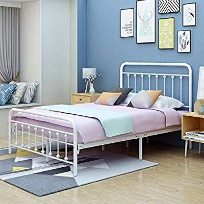 Amazon Com Aufank Metal Bed Frame Full Size Victorian Vintage