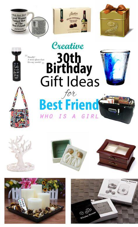 Creative 30th Birthday Gift Ideas For Female Best Friend 30th Birthday Gifts Creative Birthday Gifts Birthday Gifts For Best Friend