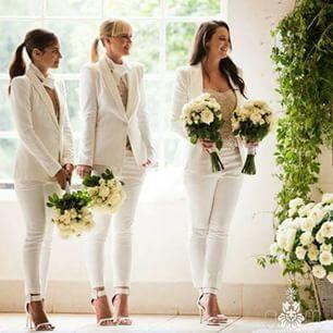 Brilliant. Via @easonandboulos Image By @gmphotographics #alternativebride  #bridesmaids #whitesuit | Pinterest | Wedding, Weddings And U2026