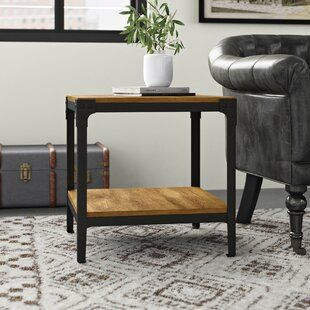Gracie Oaks Latisha Solid Wood Floor Shelf End Table In 2021 End Tables Coffee Table End Table Sets