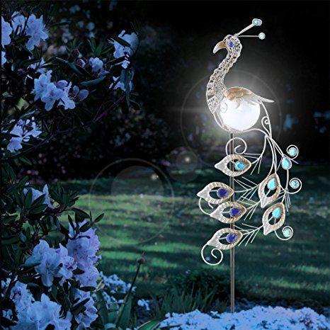 Led Garten Solar Leuchte Metall Kupferfarbe Pfau Design Solarleuchten Garten Solarleuchte Solarleucht Solarleuchten Garten Solarlampen Garten Solarleuchten