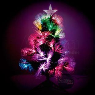 Arvore De Natal Fibra Otica Led 60cm Mm Com As Melhores