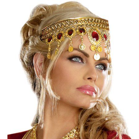 Egyptian Queen Goddess Renaissance Dripping Rubies Headpiece Costume Accessory for sale online