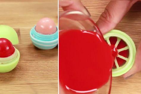 3 ingrédients seulement pour faire un baume à lèvres style EOS! C'est super facile!!