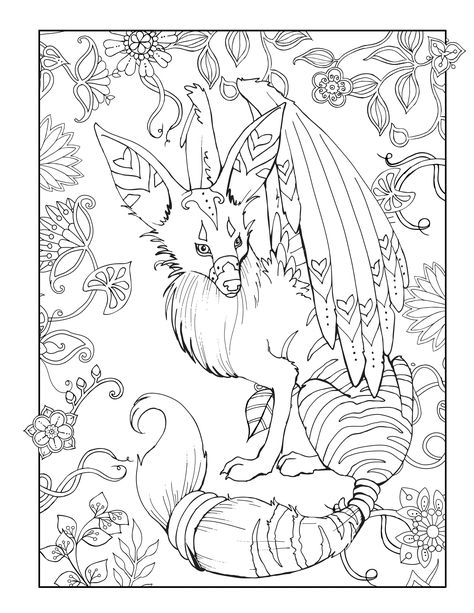 Do You Love Mythical Animals This Adult Coloring Page Is From