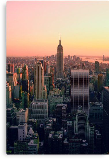 'NEW YORK CITY XI' Canvas Print by Groppo