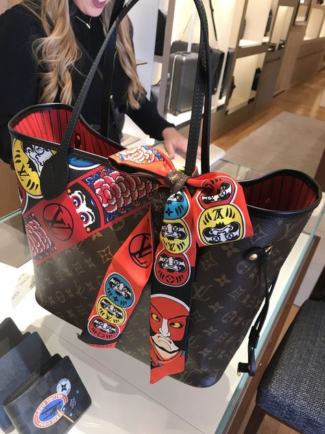 Louis Vuitton 2018 Cruise Collection. Kabuki Neverfull MM. The artwork is  amazing! 19465130ca0f3