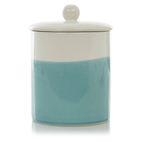 Buy George Home Blue Dipped Ceramic Canister From Our Kitchen