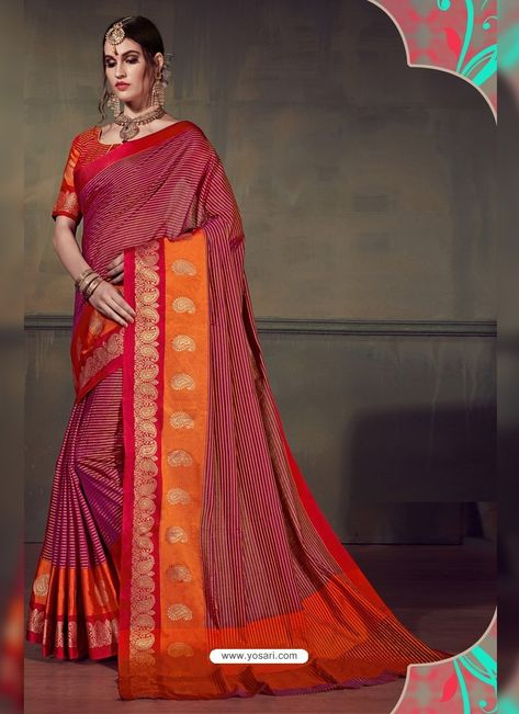 412d57ecfb1454 Admirable Multi Colour Cotton Silk Saree